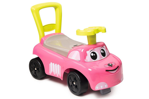 Ride-on roze loopauto van Smoby.